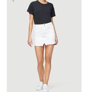 FRAME DENIM/ le mini skirt split front